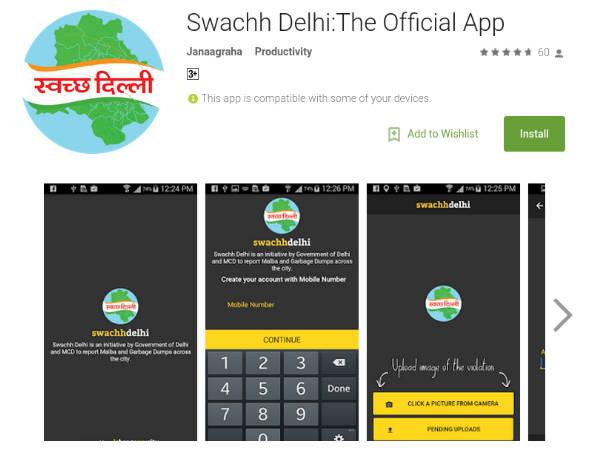 Delhi government launches Swachch Delhi app