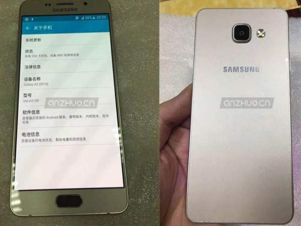 Samsung Galaxy A5, Galaxy A7 successor images leaked, have new designs