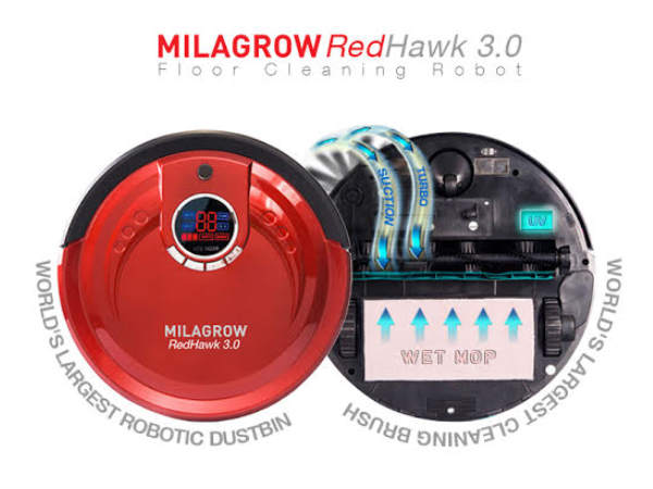 Milagrow RedHawk 3.0 Floor Cleaning Robot launched at Rs 25,990