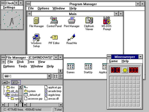 Windows 3.x & NT 3.X [1990-1994]