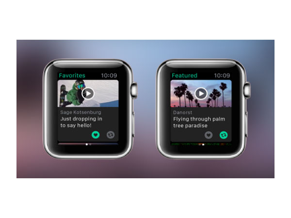 Vine is now available for Apple Watch