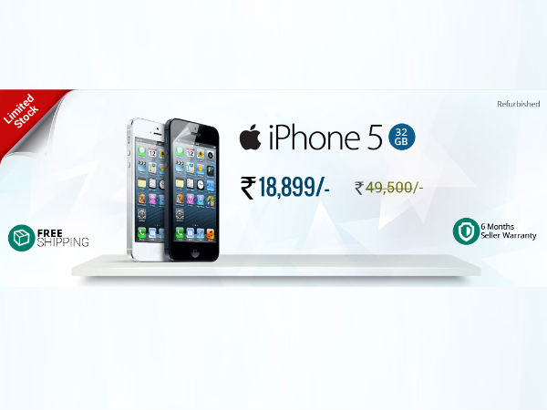 Apple iPhone 5 to available at Rs 18,999 via Flash Sale on GreenDust