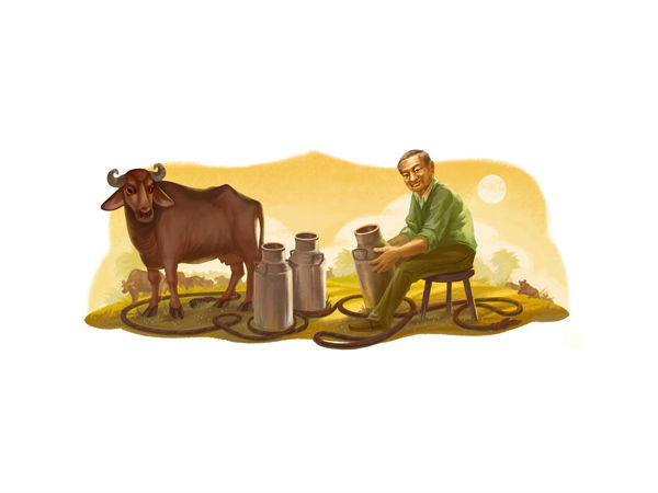 Google Doodle honors Dr. Verghese Kurien, the 'Milkman of India'