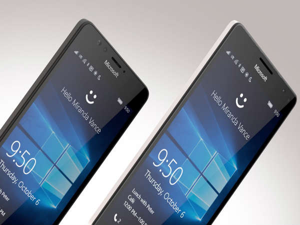 Microsoft Launches Lumia 950 and Lumia 950 XL Smartphones in India