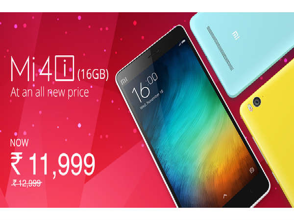 Xiaomi Mi 4i gets price cut in India, now costs Rs 11,999