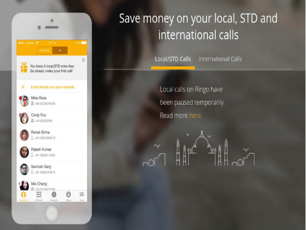 Local Calls made from Ringo App in India might be temporarily blocked