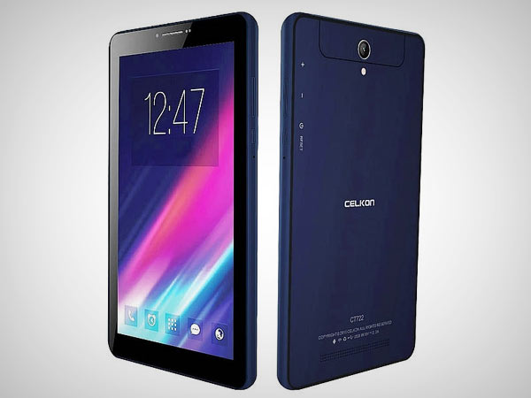 Celkon CT722 tablet with 7 inch display, Intel Atom SoC launched at Rs