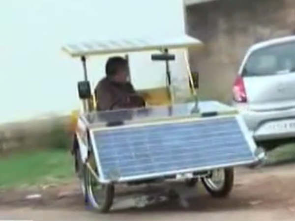 A 64 Year Old Bengaluru Man Travels 3,000 kms in Self-built Solar Car