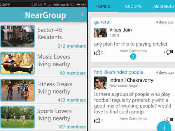 NearGroup is a New Social Networking App by IITian for residents
