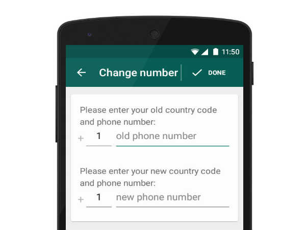 Want to change your Whatsapp number?