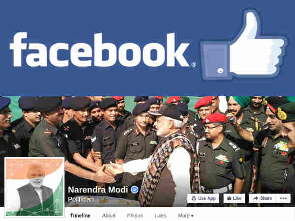 PM Narendra Modi On Top Of Charts On Facebook