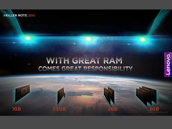 Lenovo K4 Note teased to come with 3GB RAM