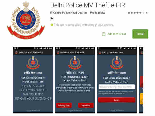 Mobile app for lodging vehicle theft case launched
