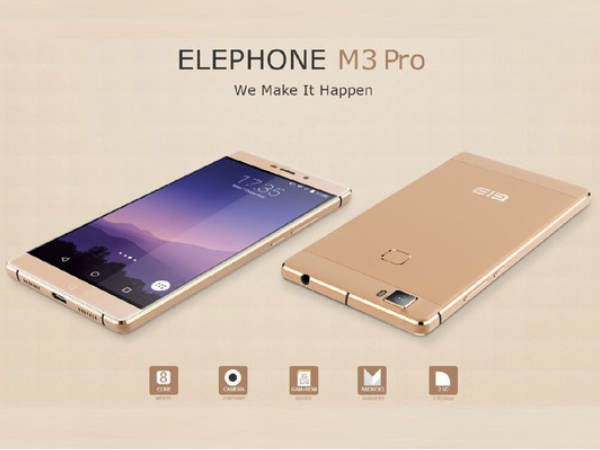 Elephone M3 Pro with Helio P10 SoC, 21MP Sony IMX230 Camera Sensor