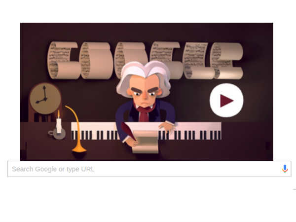 Google doodle pays ode to Beethoven's masterpieces