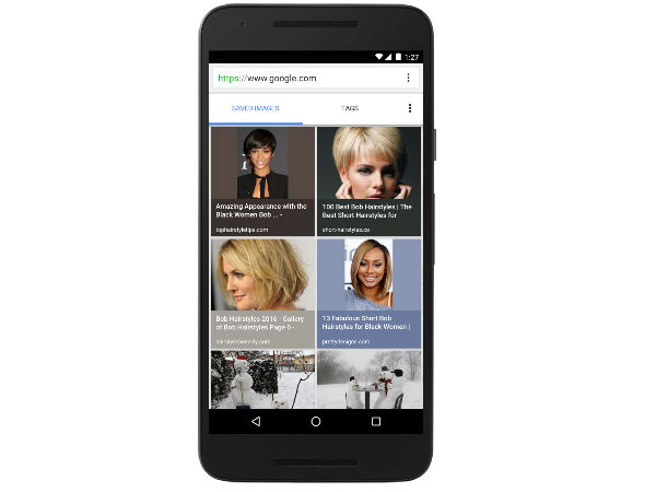 Google now lets you bookmark images on Mobile
