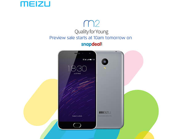Meizu M2 will go for Open sale on Snapdeal today