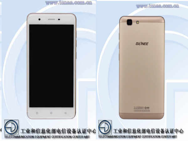 Gionee F105 with 5-inch display and 2GB RAM listed on TENAA