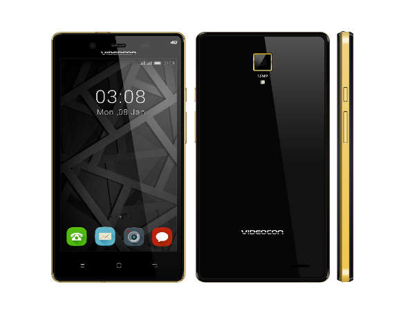 "Videocon launches Infinium Z55 Krypton with 5"" HD display, 4G LTE"