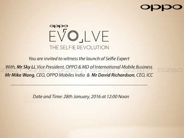 Oppo sents out invite for the smartphone launch on Jan 28