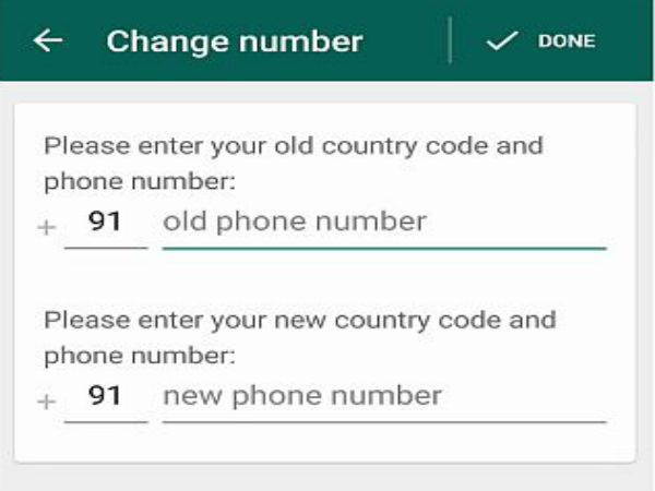 Migrate to a new phone number