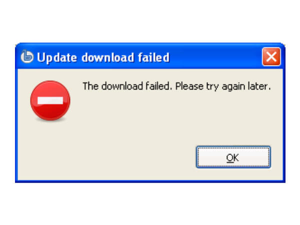 Failed downloads