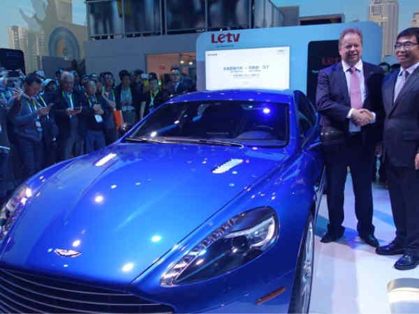 Letv, Aston Martin reveal AutoLink Rapide S at CES
