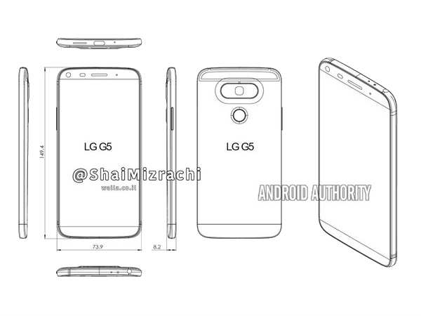 LG G5 sketch reveals a new design for its LG G Series
