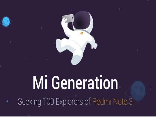 Xiaomi to launch Redmi Note 3 in India initially to '100 Explorers'