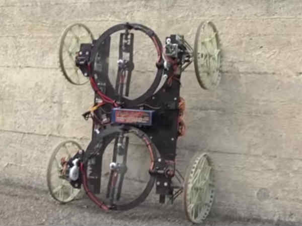 New lightweight robot can climb walls!