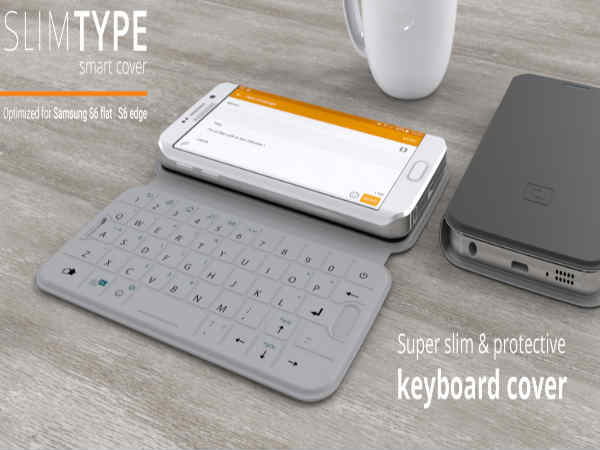 SlimType cover doubles up as QWERTY keyboard for  Samsung Galaxy S6