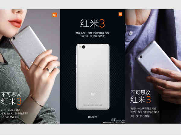 Xiaomi Redmi 3 teased to come with 4100mAH battery, Dual SIM