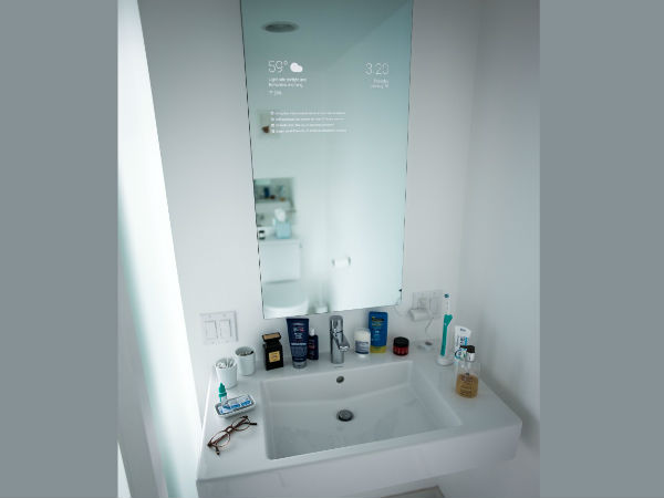 Google engineer invented his own smart bathroom mirror for Who invented the mirror