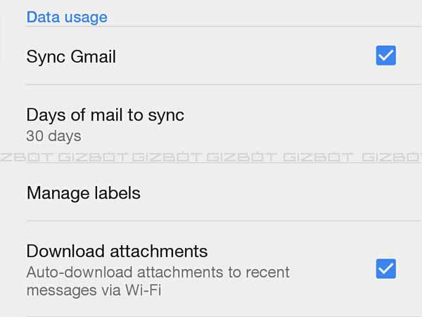 Switch mail sync to manual mode