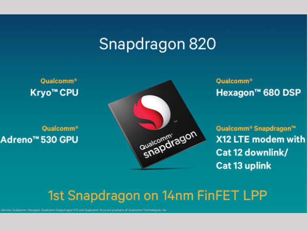 Snapdragon 820 to don the inside