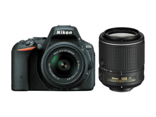 Nikon D5500 (Body with 18 - 55 + 55 - 200 Lens) DSLR Camera