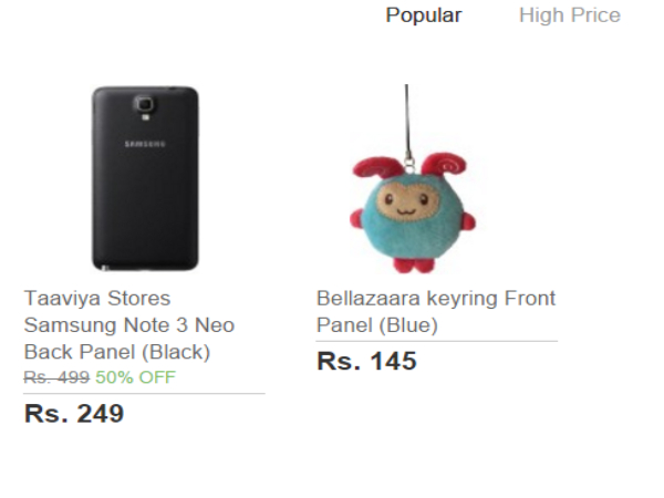 Buy Everything under Price Rs 251