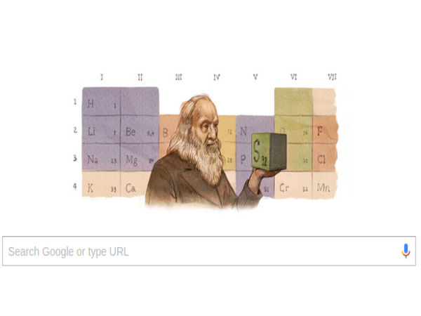 Google doodles 'father' of periodic table on birth anniversary