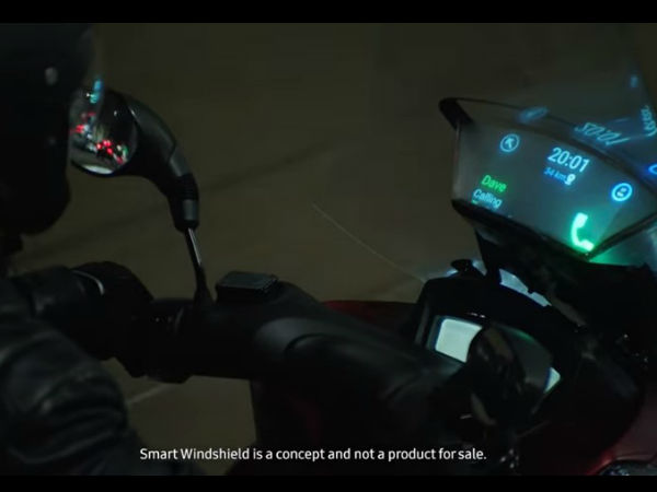 Meet the new Samsung Smart Motorcycle Windshield: Coolest Tech Ever!