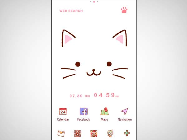 Cute Theme-Kitty Face