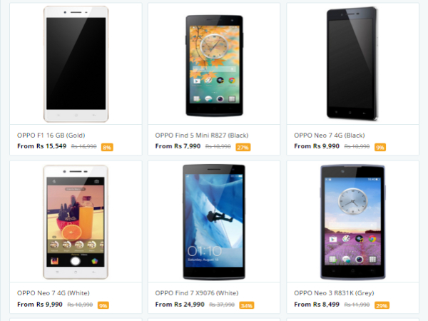 Get Upto Rs.2000 Cashback Now on Oppo Mobile Phones