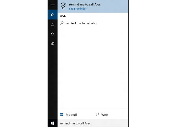 Cortana can help you with reminders