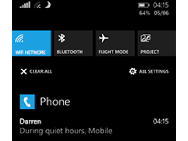 Cortana can keep your Phone Quiet.
