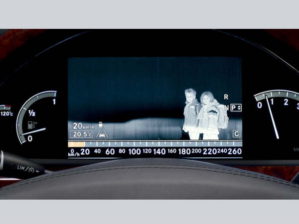 Night vision with pedestrian detection