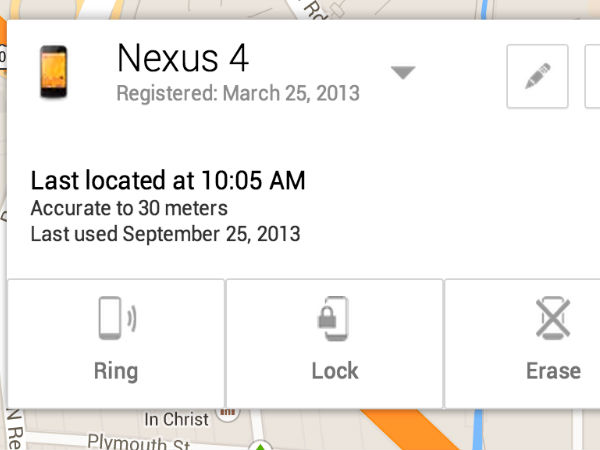 Use Android Device Manager