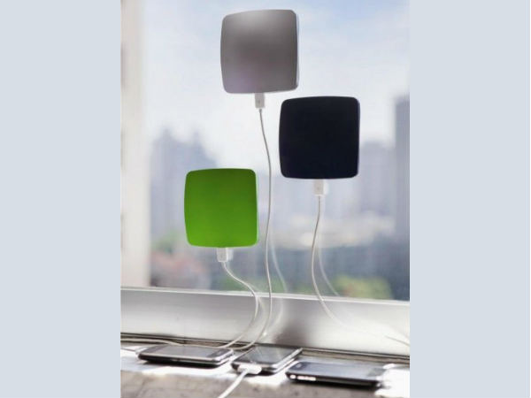 Solar powered smart phone charger