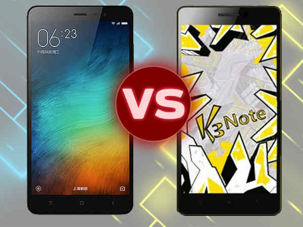 Xiaomi Redmi Note 3 vs Lenovo K3 Note: Which is the best budget phone!