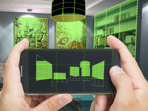 Smartphone-based laser depth-sensing system to work outdoors