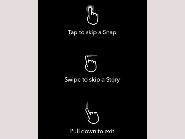 Auto-advancing Snapchat stories