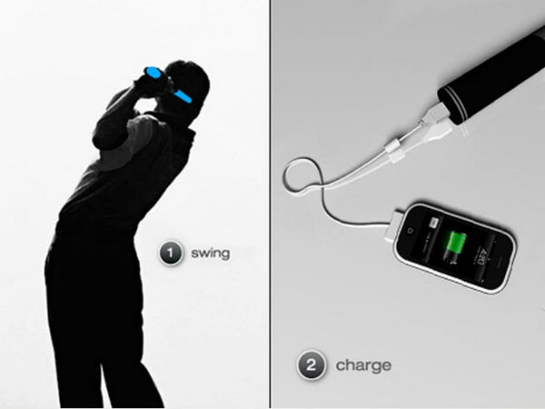 Charge your iPhone by swinging this device: